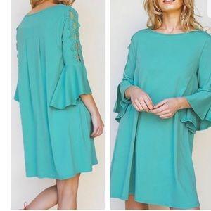 👗Umgee Seafoam Green Boho Dress NWT 👗